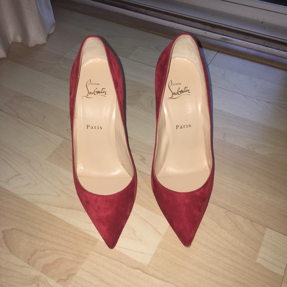 6fc38619916 Christian Louboutin Shoes - Red Suede Christian Louboutins - Pigalle